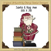 Santa & Rag Ann Single Graphics Clip Art Download
