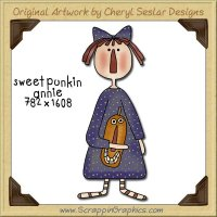 Sweet Punkin Annie Single Graphics Clip Art Download