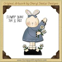 Flower Bunny Single Graphics Clip Art Download