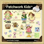 Patchwork Kids Clip Art Graphics Collection