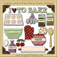 Baking Elements Collection Graphics Clip Art Download