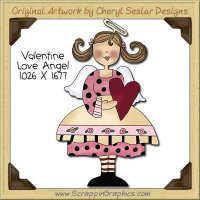 Valentine Love Angel Single Clip Art Graphic Download