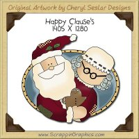 Happy Clause's Single Clip Art Graphic Download