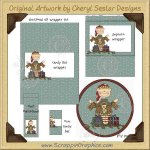 Christmas Elf Wrapper Set Printable Craft Collection Graphics Cl