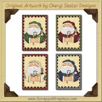 Prim Nick Greeting Cards Collection Printable Craft Download