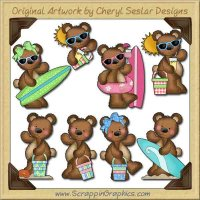 Raggedy Bears Fun In the Sun Graphics Clip Art Download