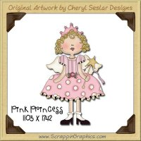 Pink Princess Single Graphics Clip Art Download