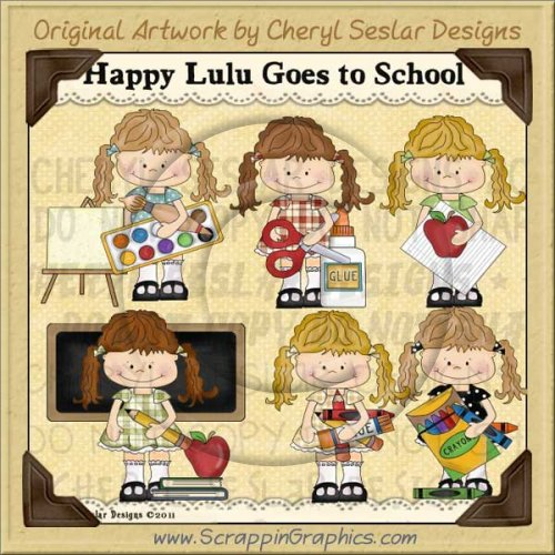 Happy Lulu Goes To School Limited Pro Clip Art Graphics