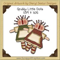 Grubby Little Dolls Single Graphics Clip Art Download