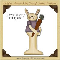 Carrot Bunny Single Clip Art Graphic Download