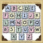 Sew Baby Alphabet Collection Graphics Clip Art Download