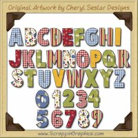 Bright Birthday Alphabet Limited Pro Graphics Clip Art Download
