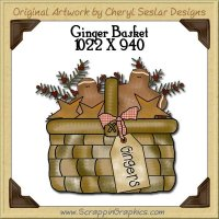 Ginger Basket Single Graphics Clip Art Download
