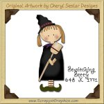 Bewitching Betty Single Graphics Clip Art Download