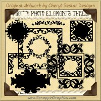 Pretty Photo Elements Three Limited Pro Clip Art Graphics