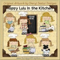 Happy Lulu In The Kitchen Limited Pro Clip Art Graphics