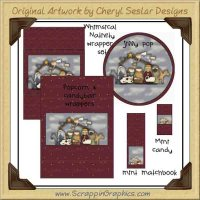 Whimsical Nativity Wrapper Set Printable Craft Collection Graphi