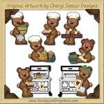 Raggedy Bears Country Kitchen Graphics Clip Art Download