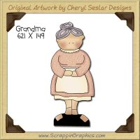 Grandma Single Clip Art Graphic Download