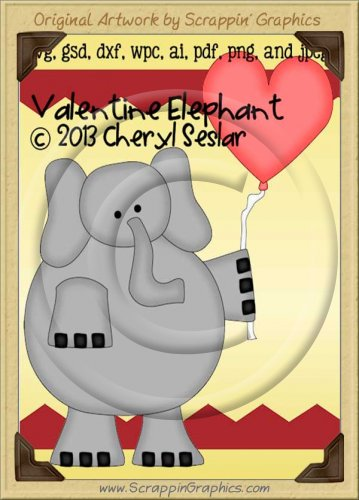 Valentine Elephant Cutter Cutting Files Collection