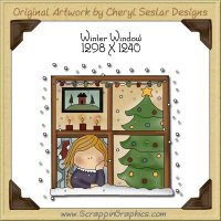 Winter Window Single Graphics Clip Art Download