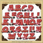 Emergency Vehicles Alphabet & Numbers Clip Art Download