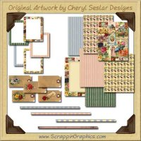 Vintage Floral Scrap Pack Graphics Clip Art Download