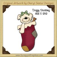 Doggy Stocking Single Graphics Clip Art Download