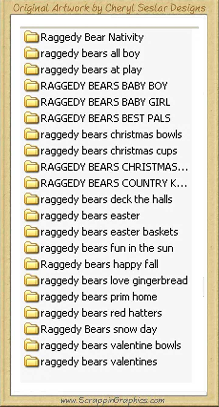 Raggedy Bears Bonanza Collection