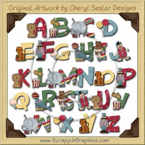 letters to numbers circus alphabet amp numbers clip art by cheryl 1470